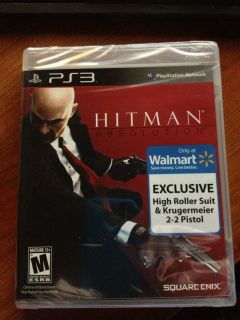 new sealed Hitman Absolution Sony Playstation 3 Wal Mart Exclusive