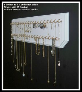 Gold Jewelry Organizer Necklace Holder Easy Wall Mount Display