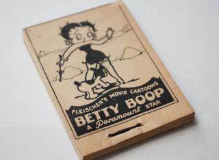 Betty Boop Orginal Flip Book 1930s Max Fleischer RARE