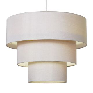 Modern Cream Fabric 3 Tier Ceiling Light Lamp Shade Pendant Lampshade
