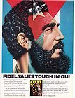 Original Print Ad 1975 FIDEL CASTRO TALKS TOUGH IN OUI MAGAZINE Castro