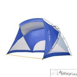 instant pop up sun shelter cabana beach tent shelter 12 x 6 NEW Blue