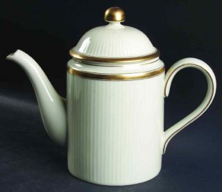 fitz floyd classique d or buff coffee pot 126917