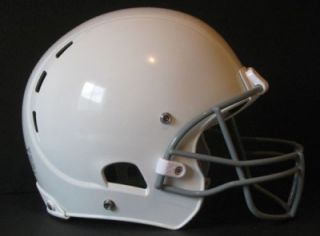 x2 white youth large regular football helmet kids face mask guard