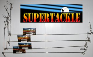 20 x 4 SUPERTACKLE Fluke Halibut Fishing Spreader Bars