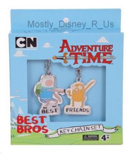 Adventure Time Finn & Jake Best Bros Friends Keychain Boxed Gift Set