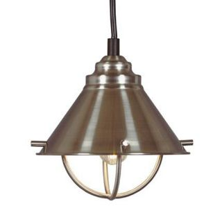 Harbour Single Light Mini Pendant Brushed Steel Fixture