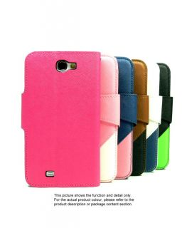 Colorful Book Leather Flip Cover Tri Fold Case for Samsung Galaxy Note