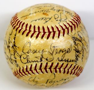 1956 AL ALL STAR TEAM MICKEY MANTLE, TED WILLIAMS + 28 SIGNED BASEBALL