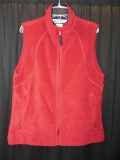 Columbia Fire Brick Microfleece Full Zip Vest Wmn M