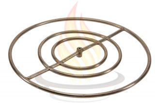 Capacity Round Stainless Steel Fire Pit Burner Ring Propane LP