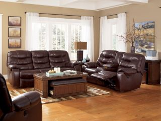 FAIRMONT   MODERN GENUINE LEATHER POWER RECLINER SOFA COUCH SET LIVING