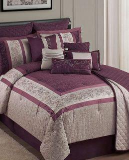 Sunham Home Fairview King 12 Piece Comforter Bed In A Bag Set