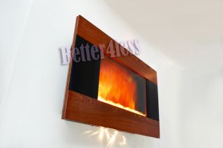 Wall Mounted Electric Fireplace Firebox Control Remote Heater B 510CP