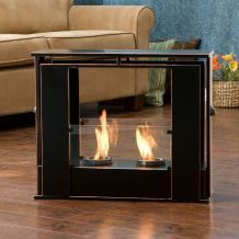 Wesley Indoor Outdoor Portable Fireplace Fire Place Patio Floor Table