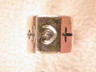 Authentic Pandora Sterling Faith Hope Love Charm 790119