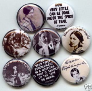 Florence Nightingale Nurse WW1 8 Buttons Badges Pins