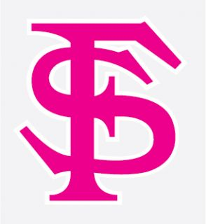 FLORIDA STATE SEMINOLES PINK FS Logo decal sticker FSU