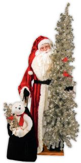 Retro Christmas Santa Claus Father Christmas Ditz Designs FREE SHIP NO
