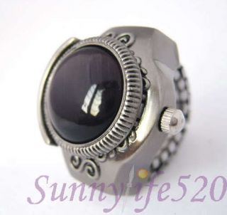 Ring Ladies Finger Watch Gemstone Jewelry Pendant Stone