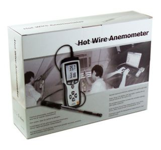 Hot Wire Thermo Anemometer Air Flow Velocity Meter USB