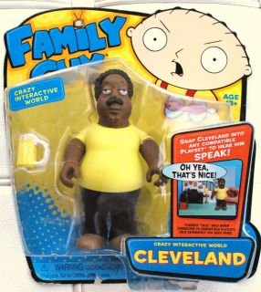 Family Guy talking action figures CLEVELAND BROWN NIB Playmates