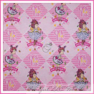 BonEful Fabric FQ Flannel Fancy Nancy Princess Girl Dress Pink Stripe