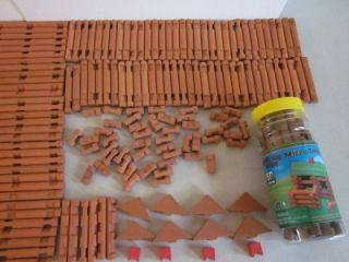 Micro Timbers Big Lot 240 PC Flats Roof Triabngles Chimney Logs