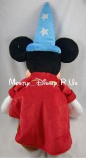 New  24 Fantasia Mickey Mouse Sorcerer Apprentice Plush
