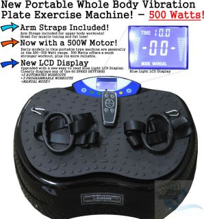 Power Vibration Vibe Plate Exercise Machine Foot Massager 500W