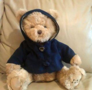 FAO Schwarz 2009 Collectible Plush Teddy Bear in Navy Jacket 15 Cute