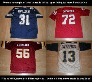 Adult NFC East NFC West Football Jerseys NFL Pick 1 Many Variations
