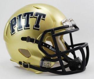 Pitt University Panthers Mini Riddell Speed Football Helmet