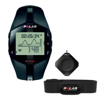 Polar FT80 Fitness Heart Rate Monitor Black White Includes Flowlink