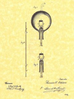 Thomas Edisons First Practical Incandescent Light Bulb