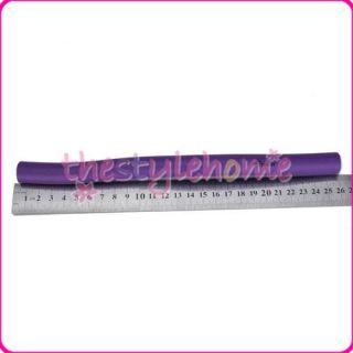 10pcs Bendy Hair Rollers Foam Curlers 18mm Purple or Blue Random Color