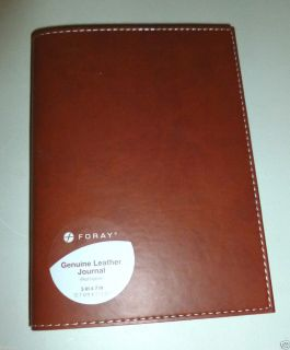 Foray Tan Smooth Genuine Leather Refillable 5 x 7Journal