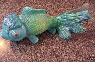 Turquoise Blue Green Gold Fish Koi Garden Pond Tank Decor