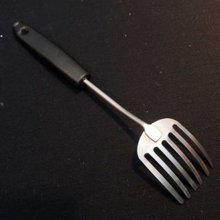 Vintage Foley Fork Stainless Steel Kitchen Utensil Black Plastic