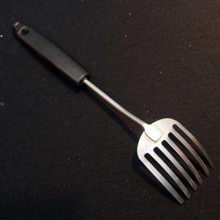 Vintage Foley Fork Stainless Steel Kitchen Utensil Black Plastic