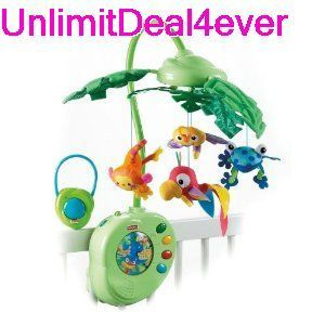 Fisher Price Rainforest Peek A Boo Leaves Musical Mobile Baby Toy