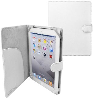 Folio Leather Case for Apple iPad 3 iPad HD Tablet Wht