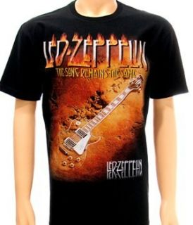 LED Zepplin Folk Rock Heavy Metal Men Tee T Shirt Sz M