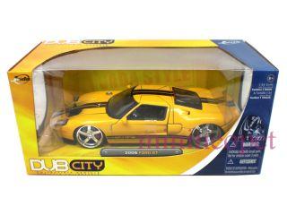 Jada Dub City 2005 Ford GT 40 GT40 1 24 Diecast Yellow