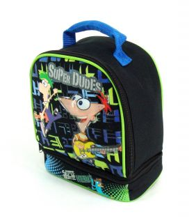 Lunch Bag Phineas and Ferb New Double Comparment Box