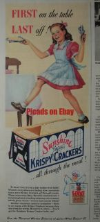 1944 Sunshine Krispy Crackers Food Fights for Freedom   Loose Wiles