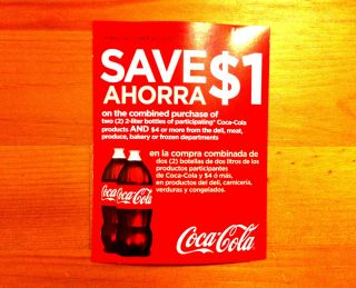 10 FOOD DRINK COUPONS 1 COKE COCA COLA SODA DELI MEAT PRODUCE FROZEN