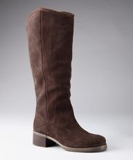 Dark Brown Suede Fay Boot by Calvin Klein Jeans 10