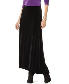 Black Velvet Full Length Fishtail High Low A Line Skirt M