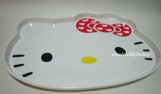 Original Hello Kitty Die cut Head Shape Plastic Food Serving Tray